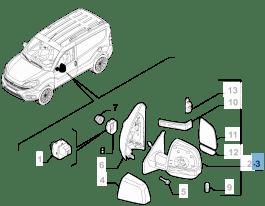 MOPAR Store External left wing mirror, manual for Fiat