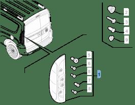 MOPAR Store Left tail lamp for Fiat Professional Doblo FL2015