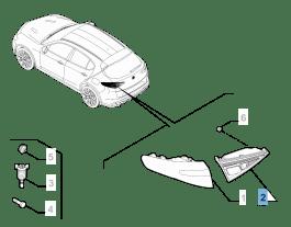 MOPAR Store Fanale posteriore sinistro mobile per Alfa