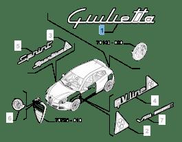 MOPAR Store Sigla modello Giulietta posteriore per Alfa