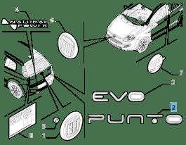 MOPAR Store Sigla modello Punto posteriore per Fiat Punto Evo