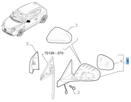 MOPAR Store Specchietto retrovisore esterno sinistro per