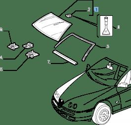 MOPAR Store Cristallo parabrezza per Alfa Romeo