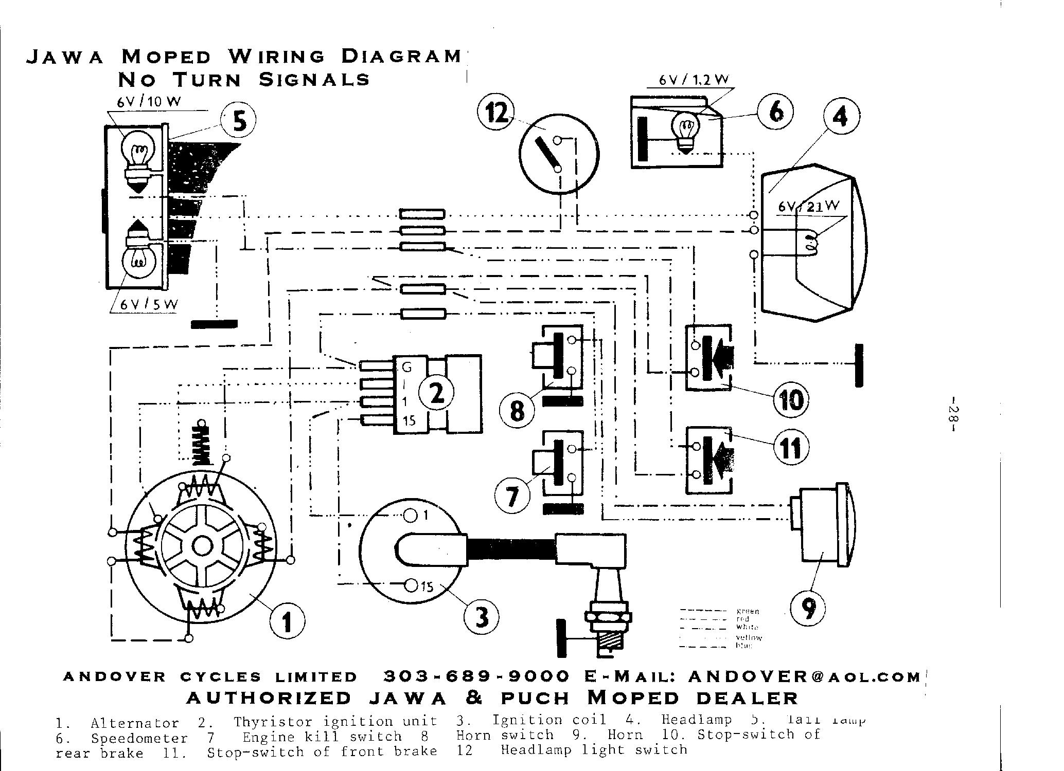 [WRG-4083] 10 2011 Tomos Moped Wiring Diagram