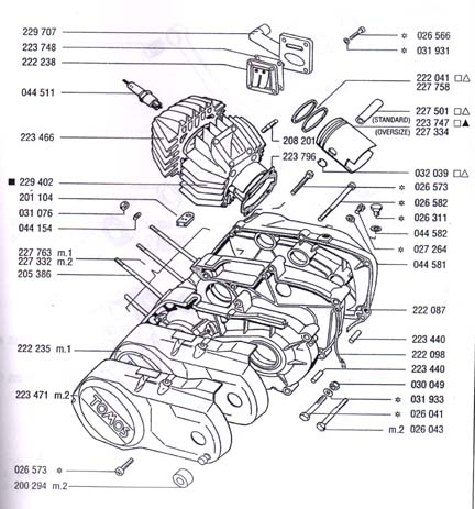 tomos piston, cylinder, cases & gaskets (6 Subcategories)