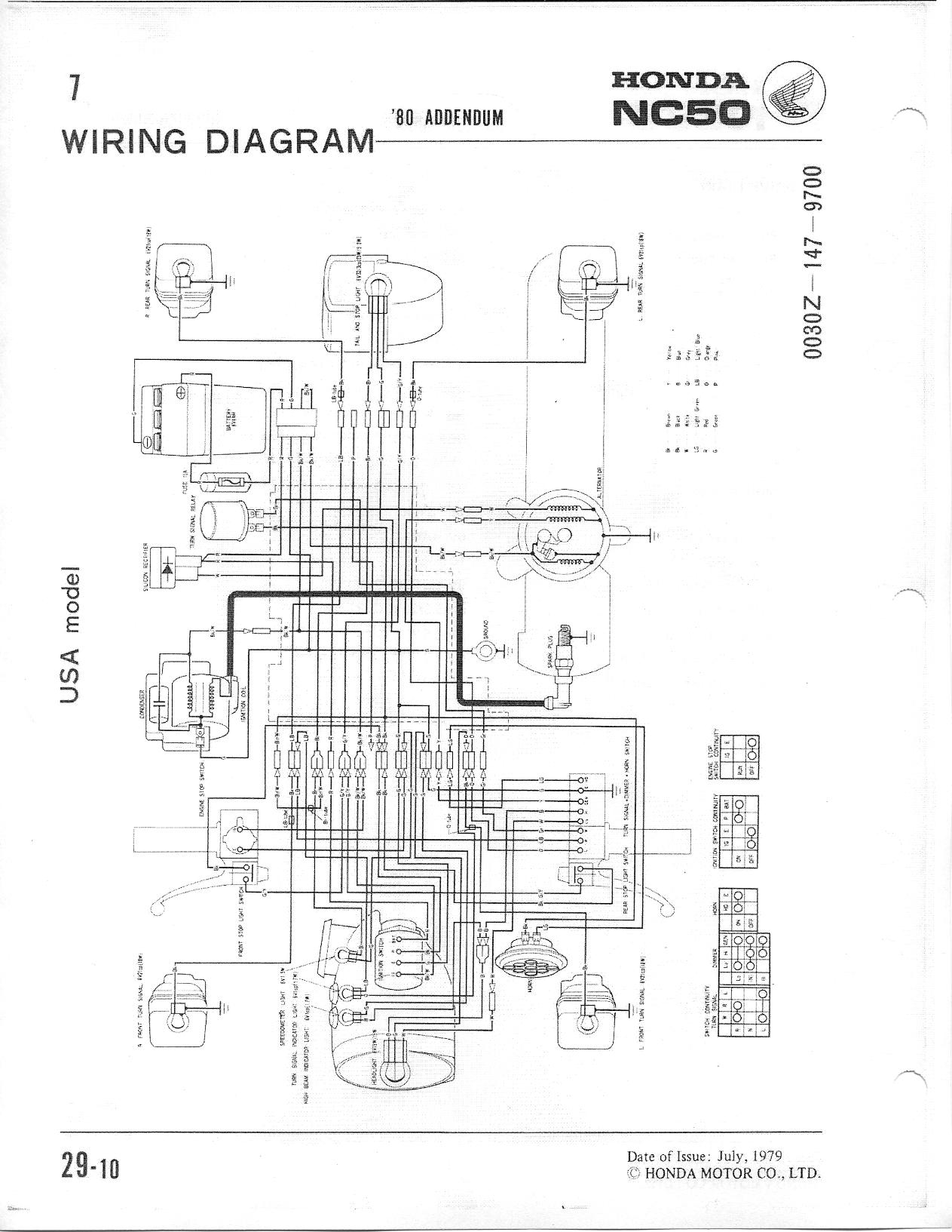 1980 Honda Express NC50 wiring questions — Moped Army