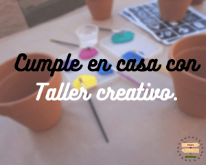 Cumpleaños en casa con taller creativo.