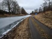Lågvatten i Götakanal