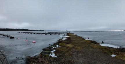 Isen ligger på Viken