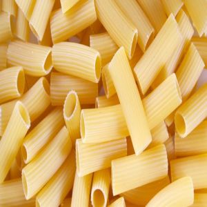 Rigatoni is a heart tubular shaped pasta.