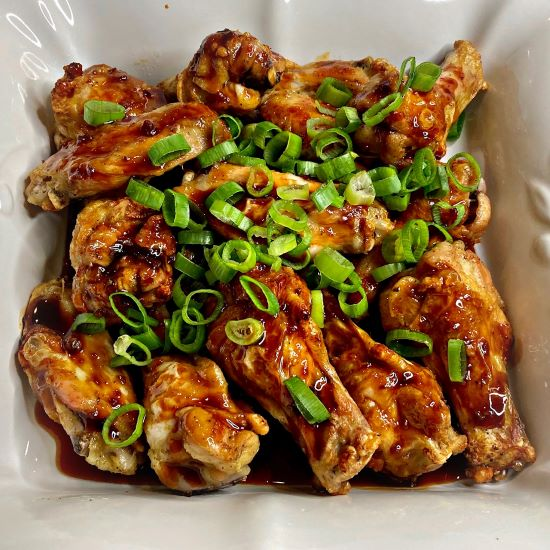 Air Fryer Sriracha Teriyaki Chicken Wings