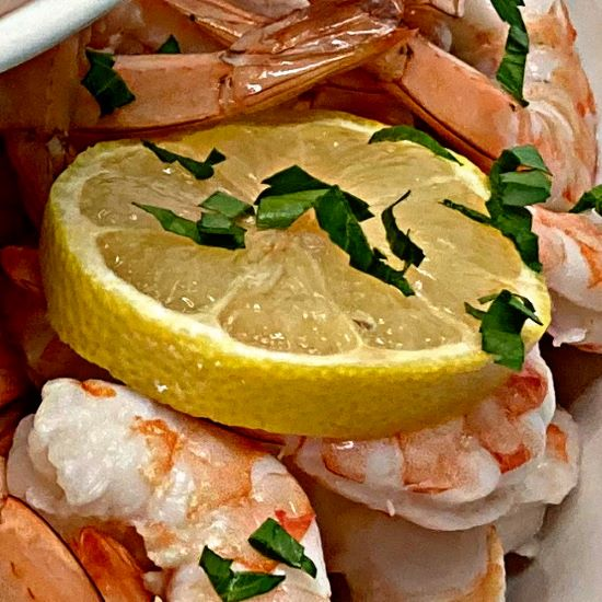 Lemon Wedge & Shrimp