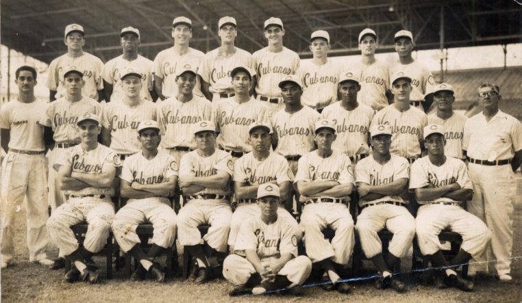 Los Cuban Sugar Kings Triple AAA Baseball Club in 1959.