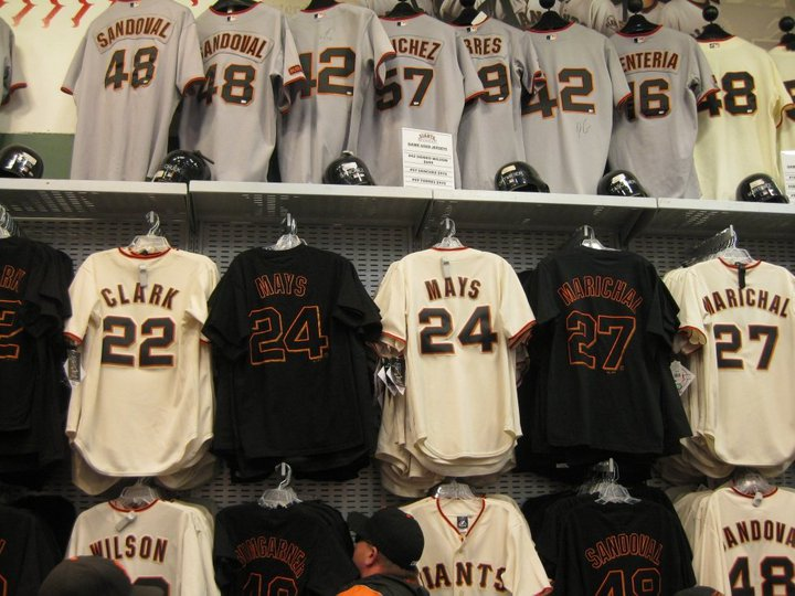 b70d066b417 ... San Francisco Giants t-shirts emblazoned with Jerry Garcias face or Grateful  Dead logos.