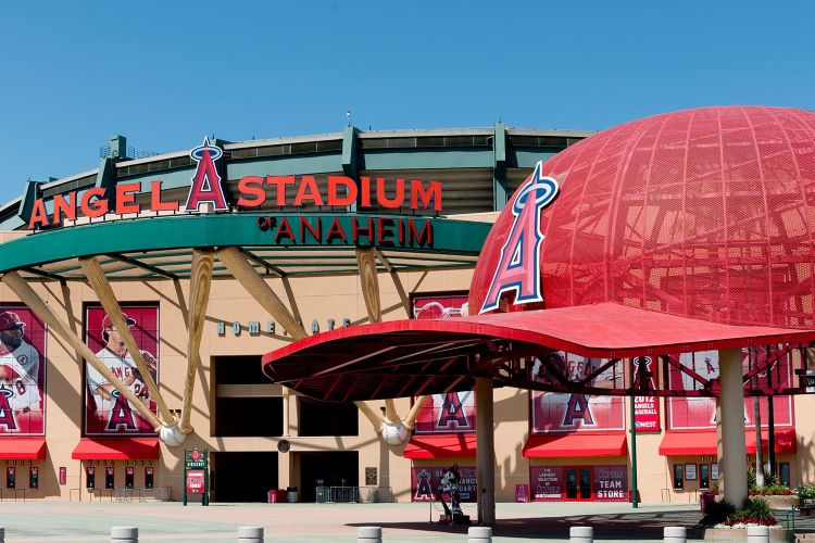 Angel Stadium entrance car service