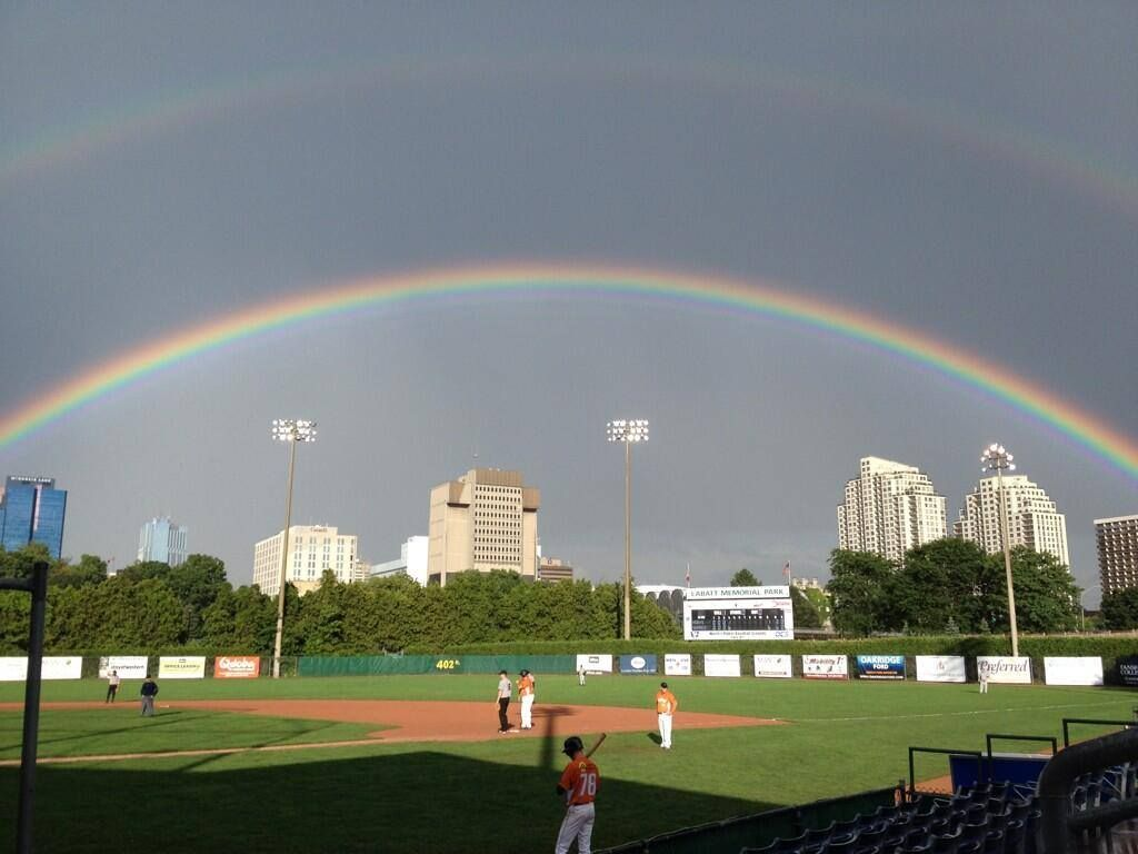 Labatt Park rainbow