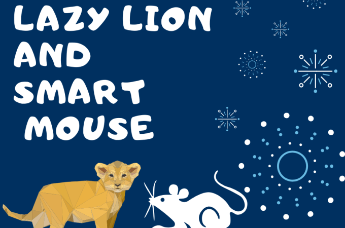 lazy lion and the smart mouse friendship