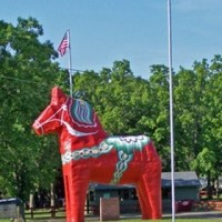 The United States largest Dala Horse is located in Mora MN