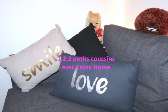 1,2,3 petits coussins avec Enjoy Home