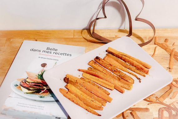 En cuisine avec le livre « Belle dans mes recettes »