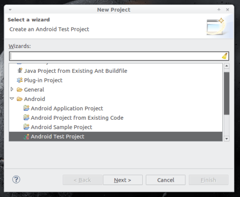 Android project in Eclipse