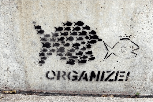 organize graffiti