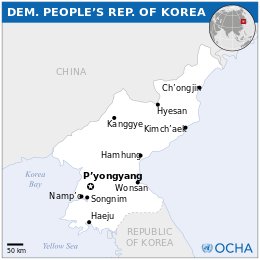 Mapa da Coréia do Norte