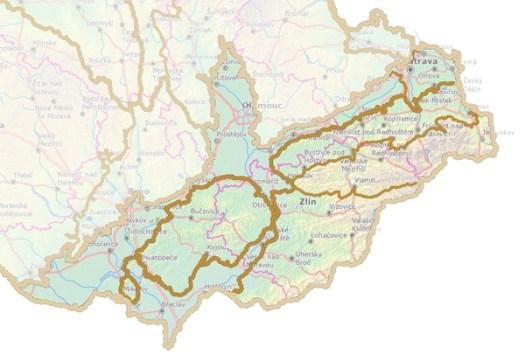 Rozdělení Vnějších Západních Karpat na geomorfologické provincie.