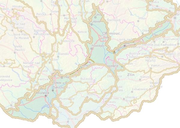 Rozdělení Západních Vněkarpatských sníženin na geomorfologické celky.