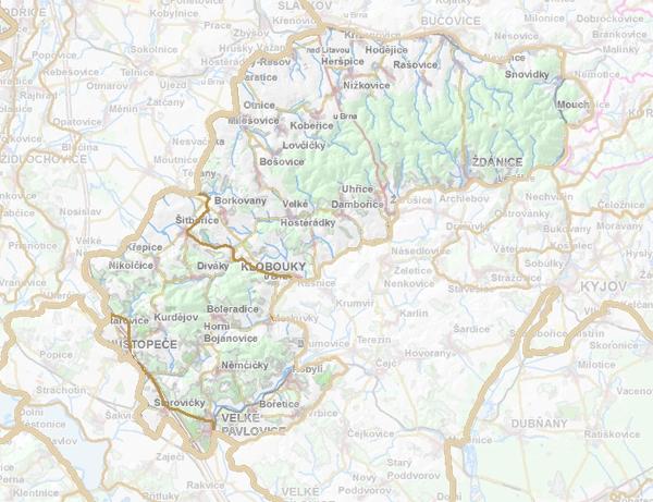 Geomorfologické rozdělení Ždánického lesa.