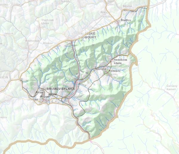 Geomorfologické rozdělení Chmeľovské hornatiny.