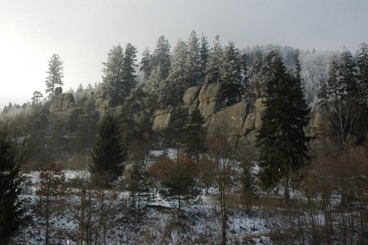 Přírodní památka Čertovy skály u Lidečka.