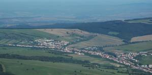 Pohled na Strání z Jelence.