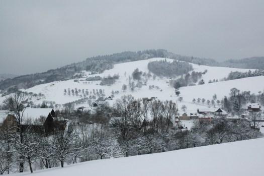 Zimní krajina nad Liptálem.