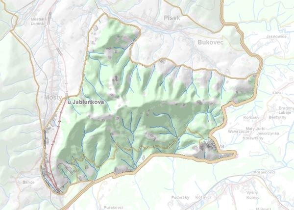 Geomorfologické vymezení Jablunkovského mezihoří.