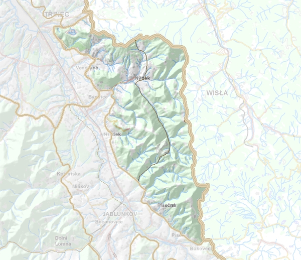 Geomorfologické rozdělení Slezských Beskyd.