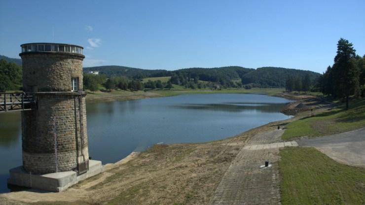 Vodní nádrž Luhačovice.