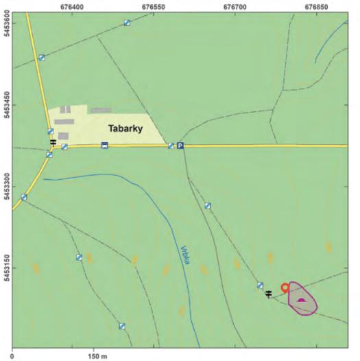 Mapa lokality Tabarky.