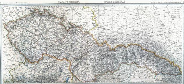 Mapa Republiky československé z roku 1935 (zdroj: http://www.stmapy.cz/1935.html).