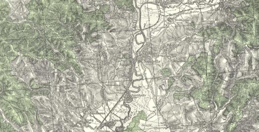 Topografická mapa odvozená z map III. vojenského mapování (zdroj: https://ags.cuzk.cz/archiv/openmap.html?typ=3voj_spec&idrastru=D1_22__4359_02).