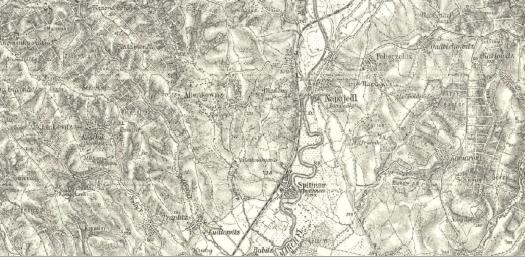Speciální mapa III. vojenského mapování (zdroj: https://archivnimapy.cuzk.cz/uazk/topo3v75/topo3v75_data/4359/4359_01_index.html).