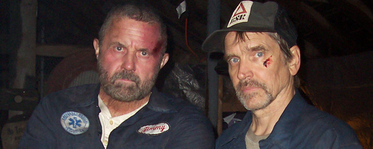 """Hodder and Moseley on the set of """"Old 37"""""""