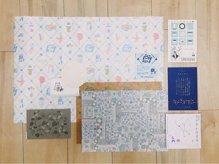 買ったもの紙ものチーム 包装紙やポストカードなど