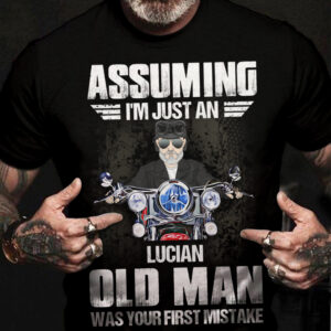 Assuming I'm Just An Old Man Was Your First Mistake Motorbike Man Personalized Shirt