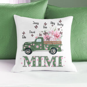 Butterfly And Flower Gift For Mother's Day Personalized Pillow