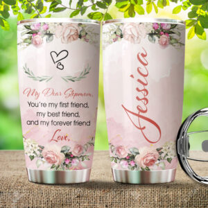 Dear Stepmom Mother's Day Gifts Personalized Stainless Steel Tumbler