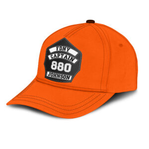 Firefighter's Helmet Front Shield Personalized Classic Cap