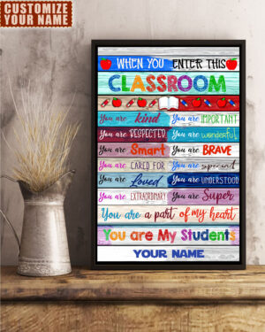 Classroom Rules Personalized Poster