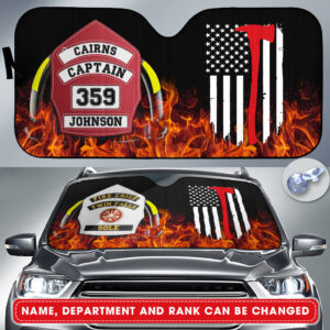 Firefighters Personalized Auto Shun Shade