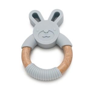 Mordedor de silicona y madera Bunny de Mordisquitos
